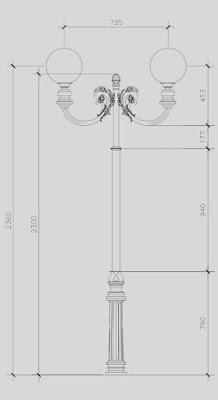 design tiang lampu taman