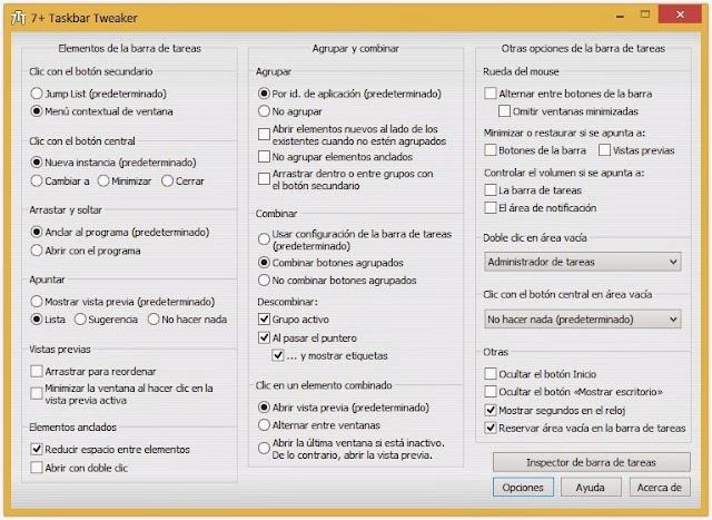7+ Taskbar Tweaker 5.3 | Añade nuevas y prácticas configuraciones a la barra de tareas de Windows