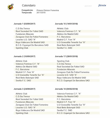 Liga Iberdrola Calendario.Calendario Del Sevilla Fc Femenino Ligaiberdrola 2017 18 Javisfc Com