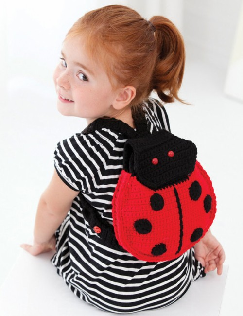 Lady Bug Backpack - Free Pattern