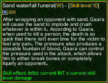 naruto castle defense 6.0 Sabaku Sand waterfall funeral detail