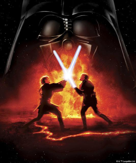 Star Wars tapet light saber fight Darth Vader cool tapet
