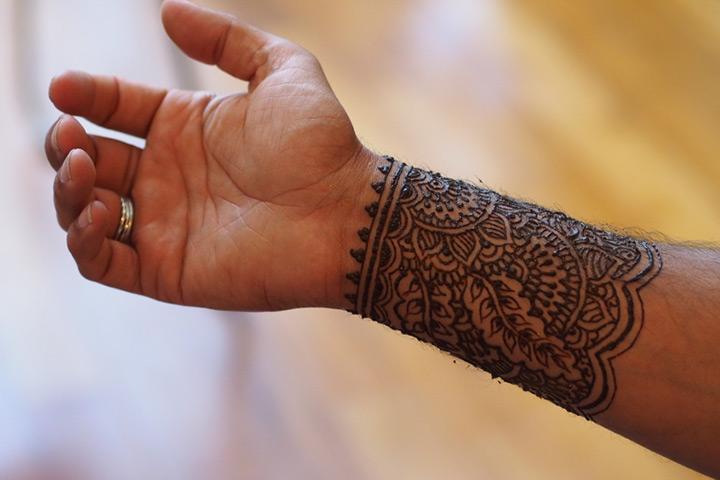 Mehndi Design for Boy Hand