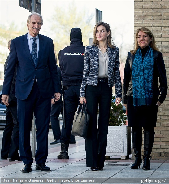 Queen Letizia of Spain attends a meeting with the Board of the 'Foundation UNICEF Cominte Spanish' at UNICEF offices on March