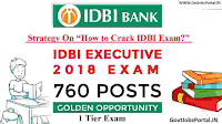 how to crack idbi executive exam