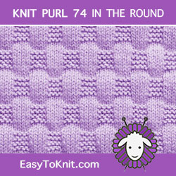 EasyToKnit - Basketweave #Knit in the round