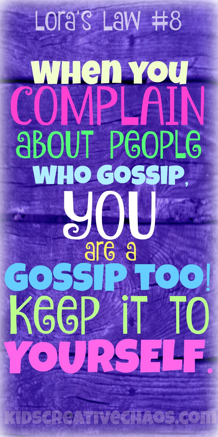 When you complain about others Gossip quote for Pinterest