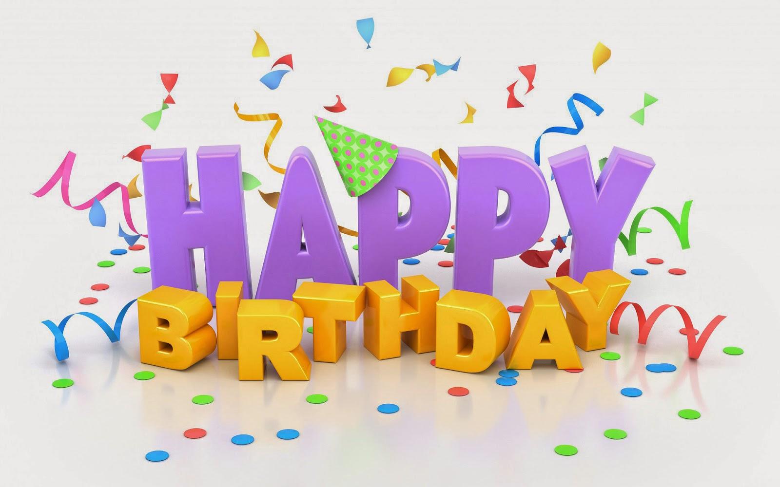 verjaardag achtergrond met 3D tekst happy birthday