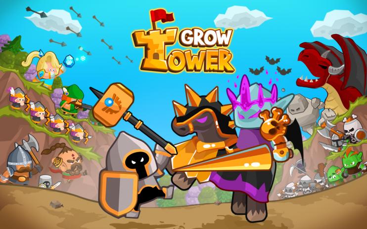 Grow Tower - Castle Defender TD v1.7.80 Apk Mod [Dinheiro Infinito]