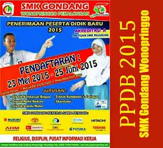 Informasi PPDB 2015 - SMK Gondang Wonopringgo Pekalongan