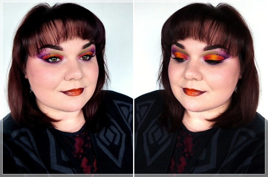 colorful cut crease look
