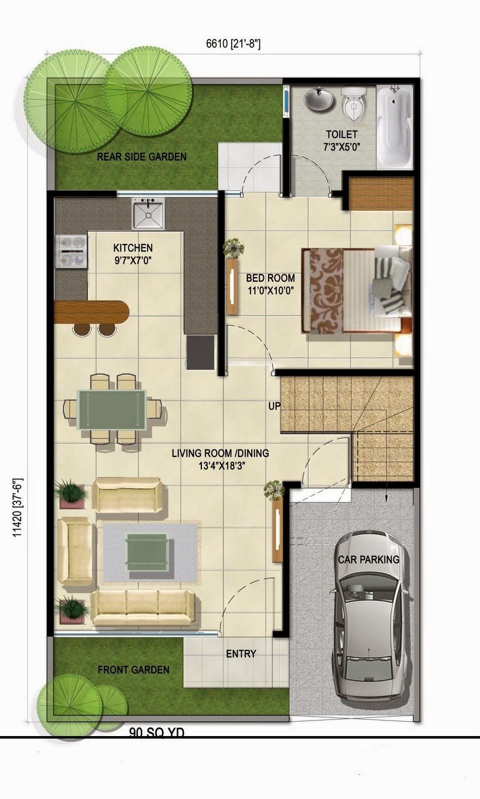 Villa Bungalow Floor Layout Interiors Blog