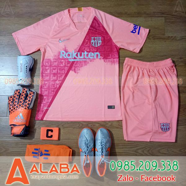 Áo CLB Barca 2018 Màu Hồng Đẹp