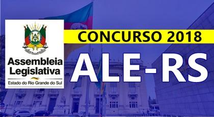 Concurso ALE-RS 2018: Assembleia Legislativa do Estado do Rio Grande do Sul