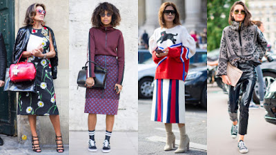 On the street at Paris Fashion Week. Photos: Chiara Marina Grioni/Fashionista (3), Imaxtree