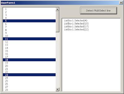 Select Listbox Vba