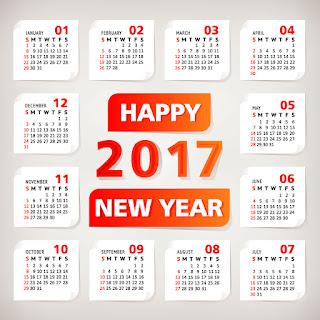 2017カレンダー無料テンプレート226