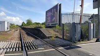 The disused Felixstowe Beach railway station