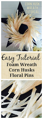 Corn Husk Wreath tutorial, The Style Sisters