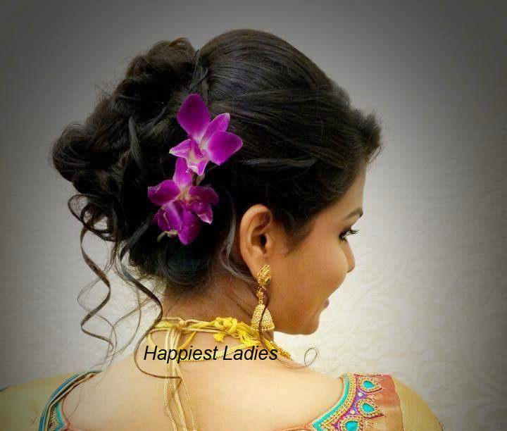 South Indian Bun Hairstyles for Wedding
