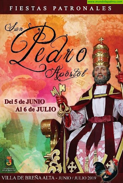 Programa de Las Fiestas Patronales San Pedro Apóstol 2019 en Breña Alta
