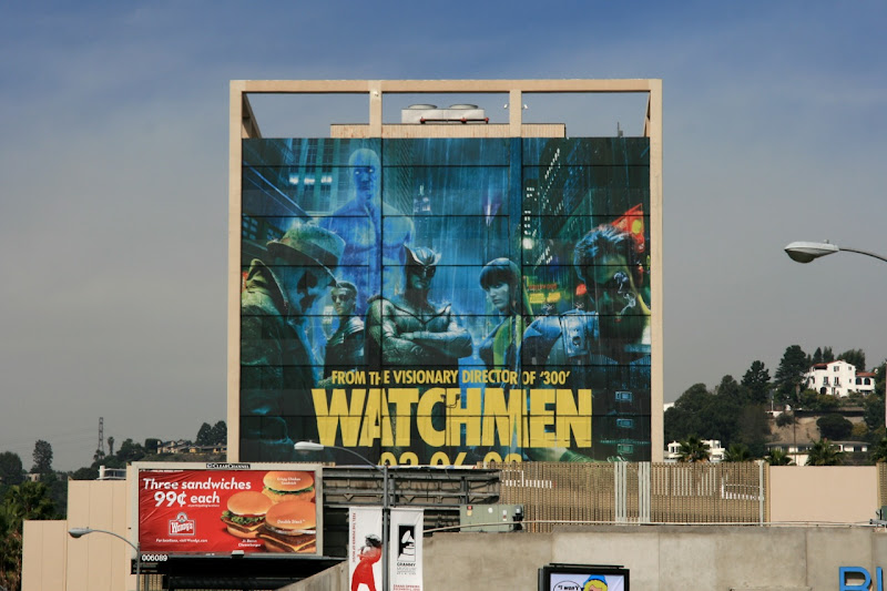Giant Watchmen movie billboard