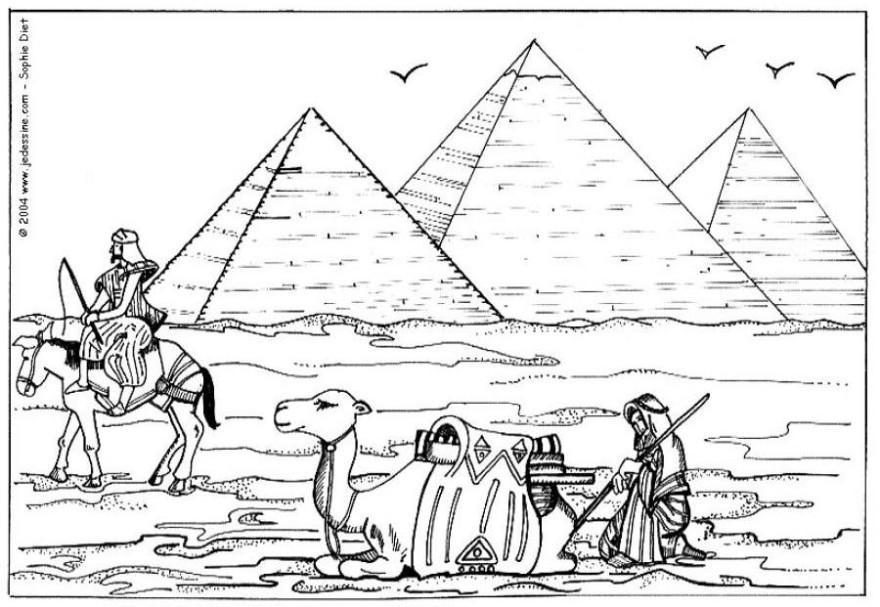 disegni da colorare: Disegni da colorare: GLI ANTICHI EGIZI