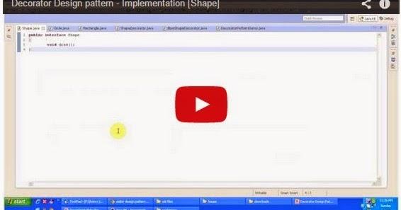 Java ee decorator design pattern implementation shape for Object pool design pattern java