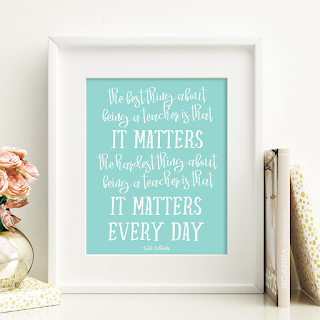This free printable is perfect for a teacher's gift from the kiddo. This year, the official Teacher Appreciation Week is May 2nd-6th.