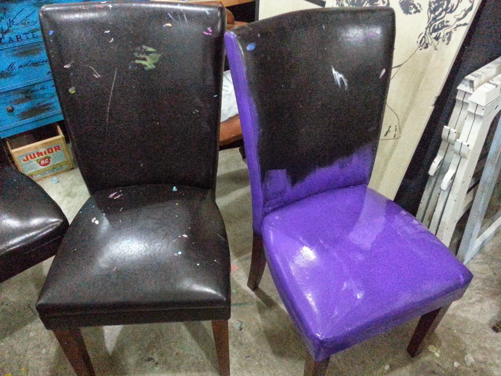 Painting Pleather Leather Oh Yes I Did