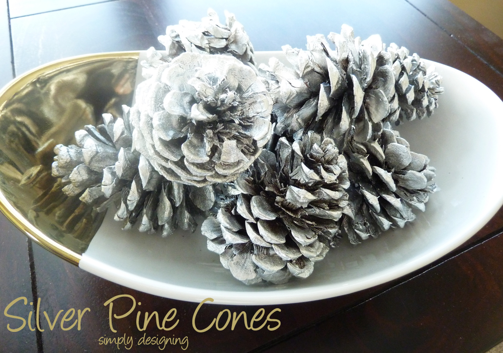 Silver Pine Cones  | West Elm Knock-Off | #knockoff #silverandgold #christmas #winter