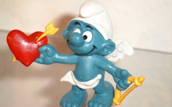Wallpaper: Figurines with smurfs