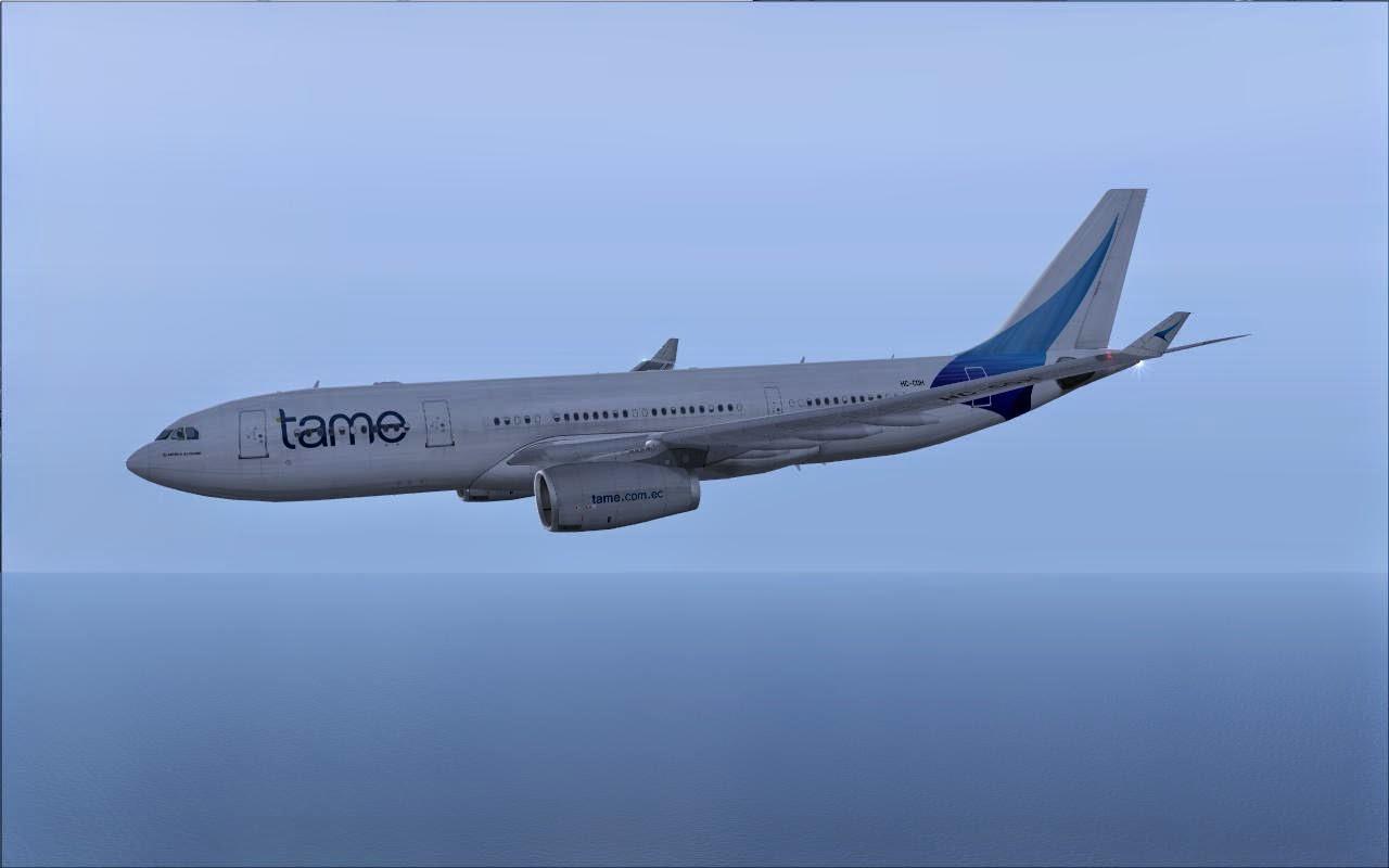FS2004 REPAINTS: CLS A330-200 TAME Ecuador HC-COH