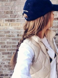 Photo of Girl Wearing Baseball Hat with Winter Outfit