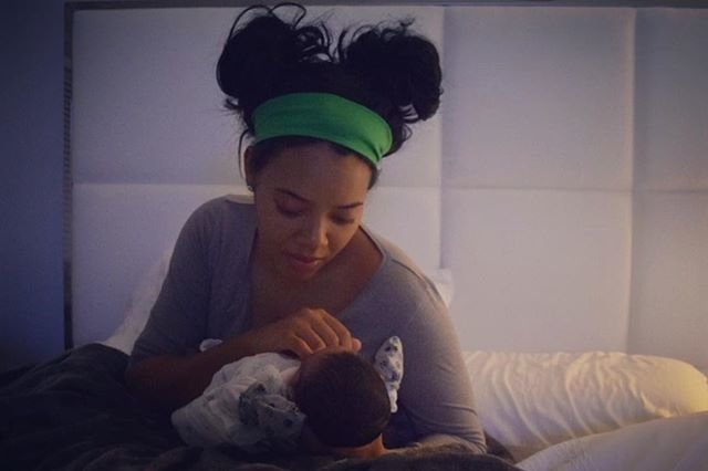 Angela simmons gives birth to a baby boy curly nikki natural hair