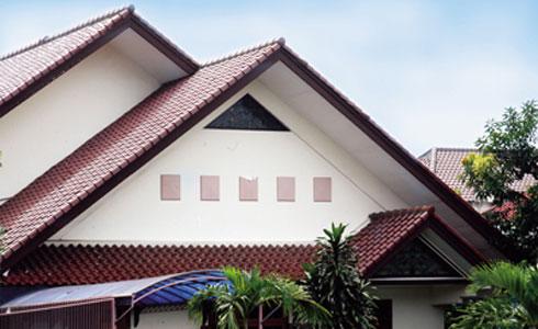 Atap rumah Model Pelana