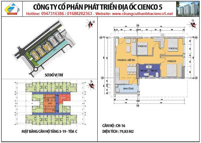 Sơ đồ thiết kế căn 16 chung cư B2.1 HH02C Thanh Hà Cienco 5