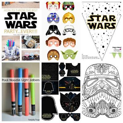 Una Pizca de Hogar: 13 recursos para una fiesta Star Wars ¡Mi niño ...