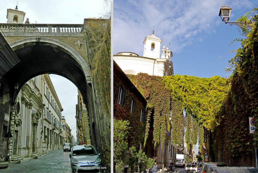 Roma - passeio na Via Giulia, a rua bonita mais da cidade