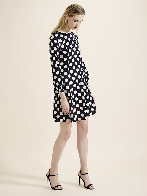Atterley black and white polka dot Skater Shift Dress