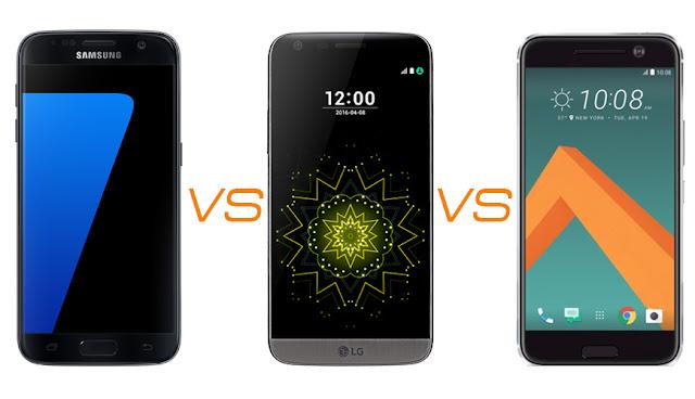 Galaxy S7 vs LG G5 vs HTC 10