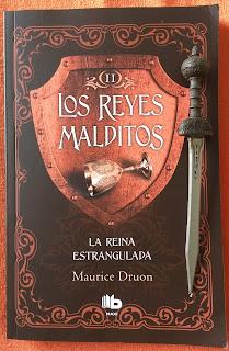 Portada del libro La reina estrangulada, de Maurice Druon