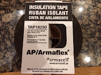 "Foam pipe insulation 1/8"" x 2"""