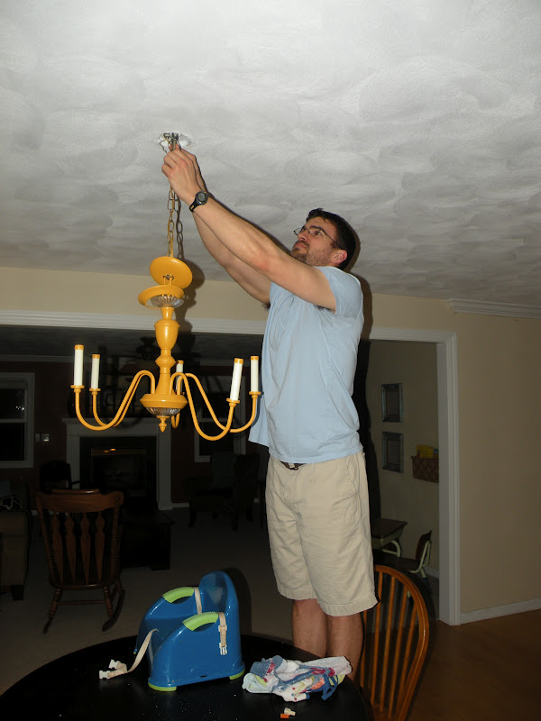Coffee And Cocoa Tea My First Painted Chandelier