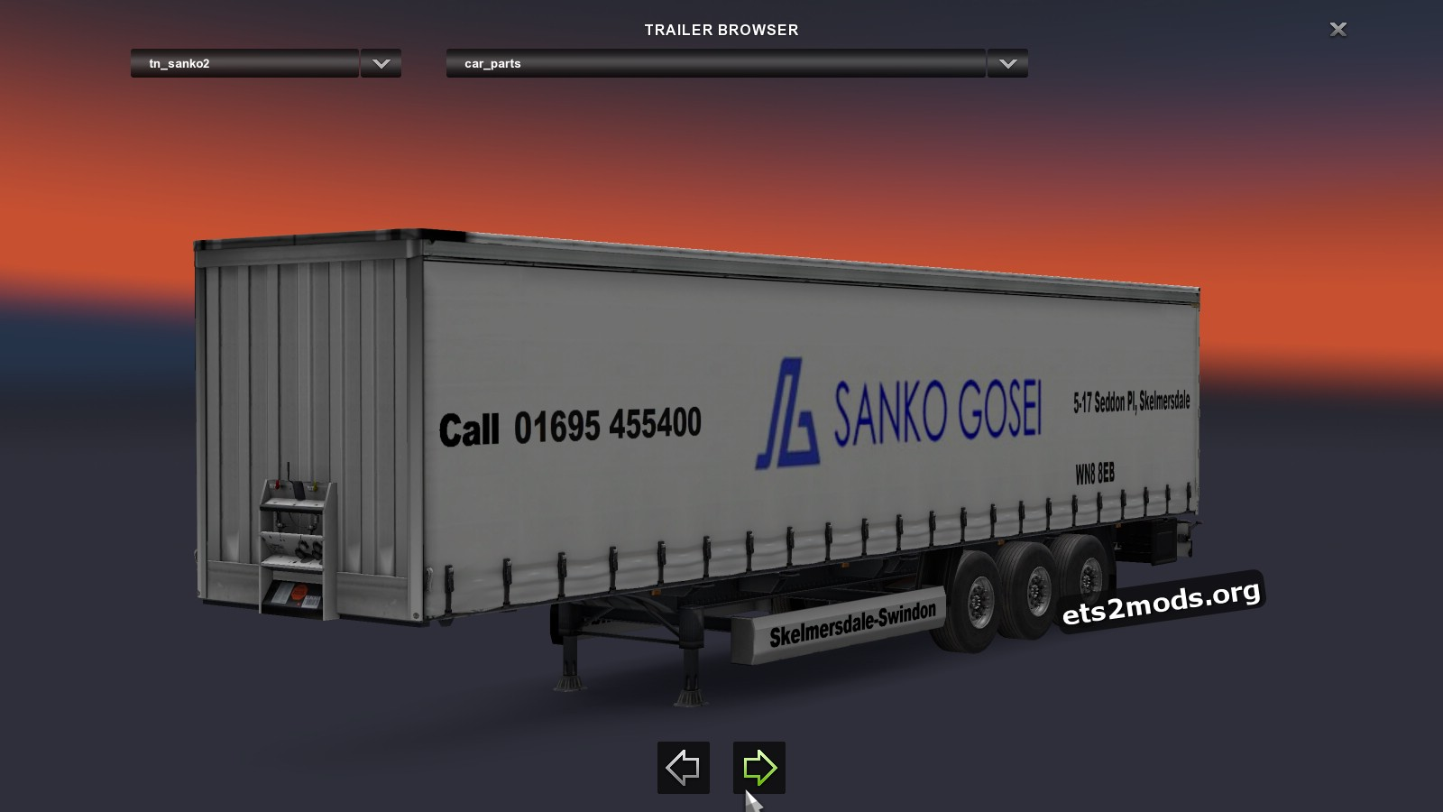 Trailer Sanko Curtainsider v 2