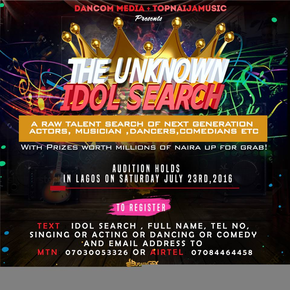 CALL FOR AUDITION FOR TALENTED YOUNG NIGERIANS BY TOP NAIJA MUSIC