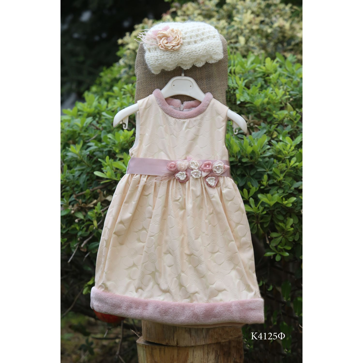 Winter christening dress K4125f