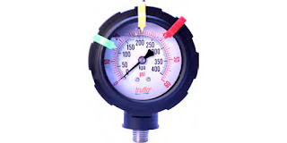 all plastic industrial process measurement corrosion resistant pressure gauge