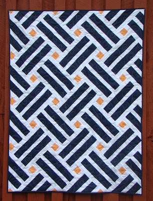 Laying Tracks modern quilt pattern by Slice of Pi Quilts