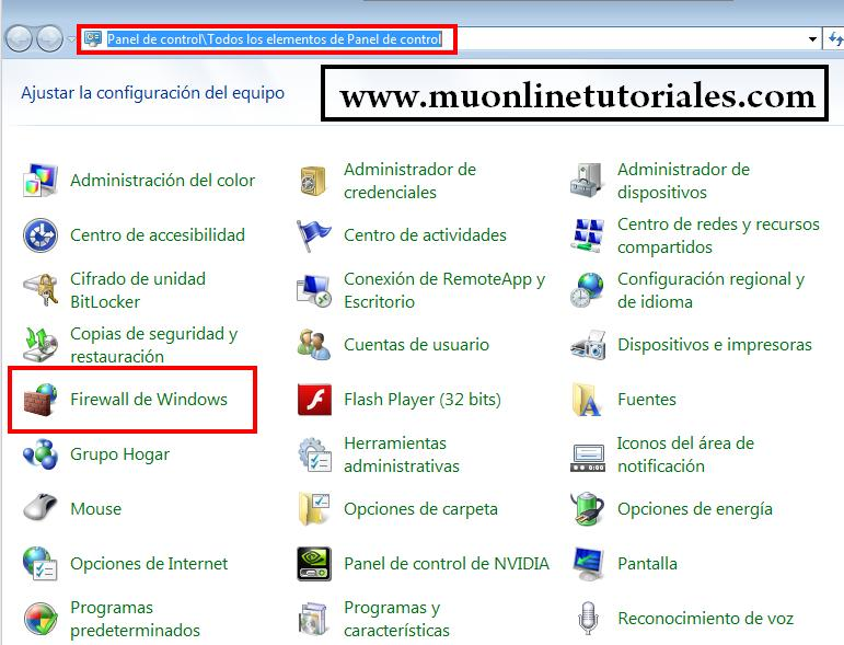 Firewall de windows 7